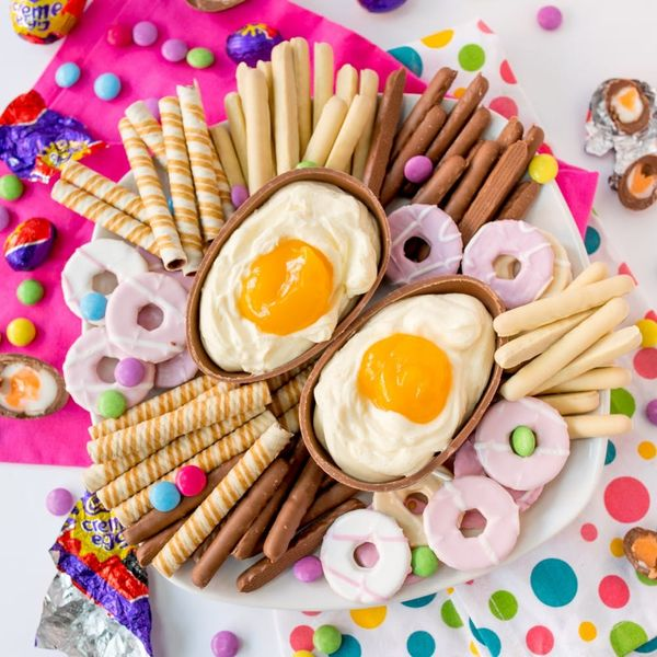 This Giant Cadbury Creme Egg Cheesecake Dip Recipe Is THE Easter Dessert