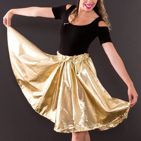 Twirl Your Way Through Spring With This DIY Lamé Skirt