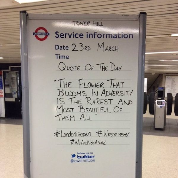 Morning Buzz! London Underground Signs Are Sharing Messages of Hope Following Attacks and They're SO Powerful + More