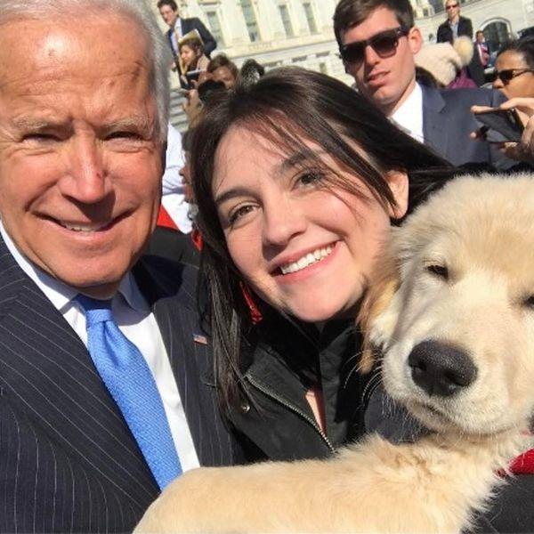 Human Joe Biden Meets Puppy Biden and OMG, the Cuteness!