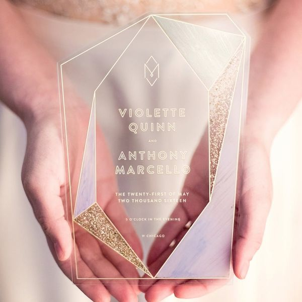 Acrylic Invites Are the Latest Wedding Trend Filling Up *All* Your Feeds