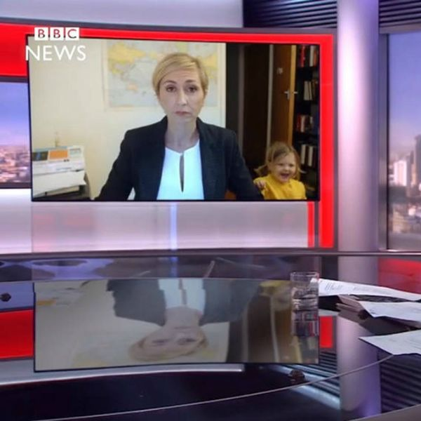 This BBC Dad Interview Parody Shows Exactly How Working Moms Would Have Handled the Situation (And It's Hilarious)
