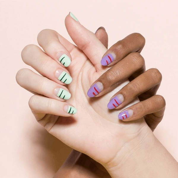 8 Negative Space Manis That Are Perfect for Spring