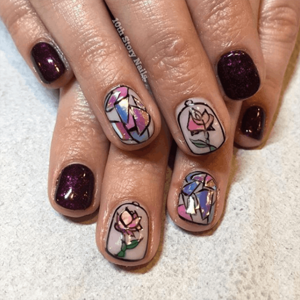 7 Beauty and the Beast Nail Art Designs to Rock for Opening Night
