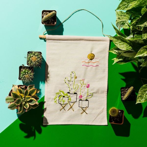 Personalize Your Home With a DIY Embroidered Wall Hanging