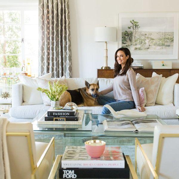 Peek Inside Catt Sadler's New Luxe Living Room Designed by Laurel & Wolf