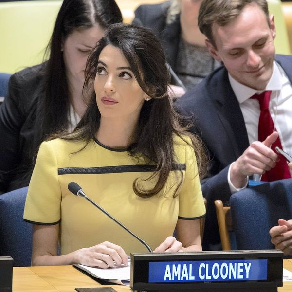 Amal Clooney's High-Fashion Maternity Style *Almost* Outshines Powerful UN Speech