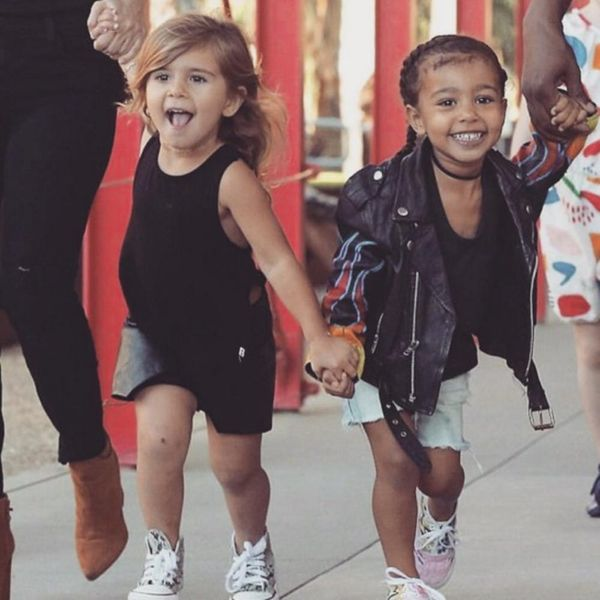 North West and Penelope Disick Are Now Sporting Toddler Hair Extensions