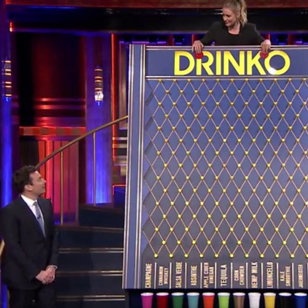 Watch Cameron Diaz and Jimmy Fallon Play the Nastiest Drinking Game EVER!
