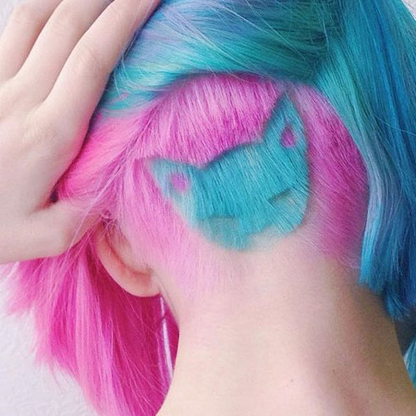 The Rainbow Cat Undercut Is the Most Creative Hair Look You'll Ever See