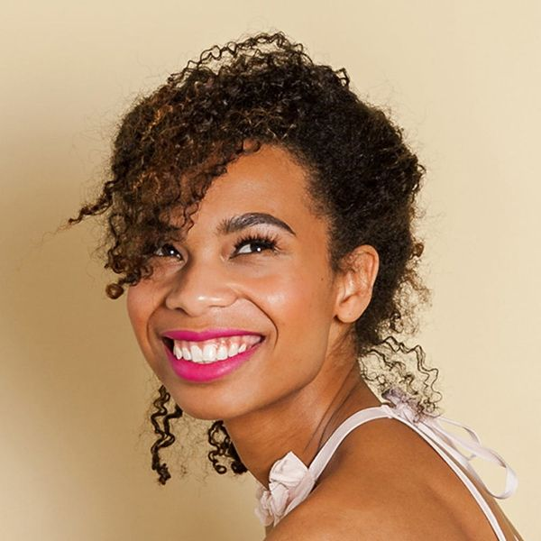 Hack This Curly Hair Updo In 3 Minutes Flat
