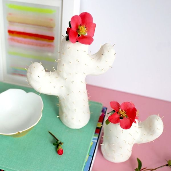 What to Make This Weekend: Cactus Bud Vase, Watercolor Floral Wreath + More