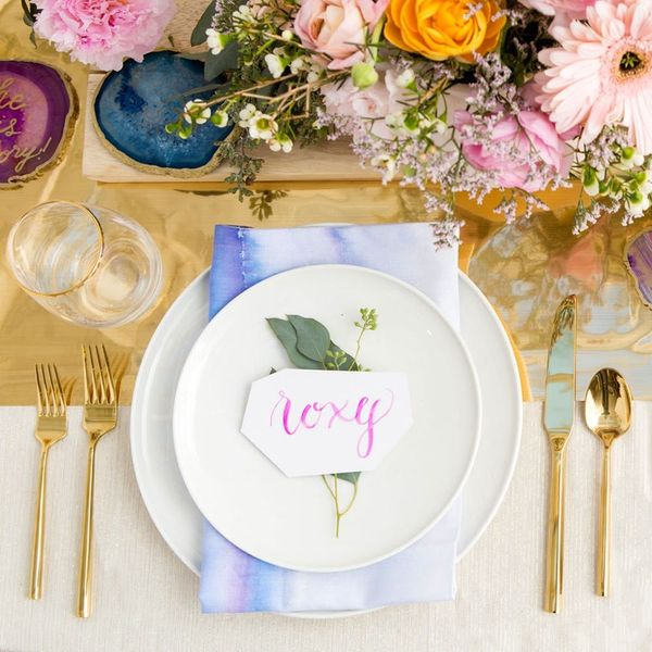DIY Calligraphy Place Cards Your Wedding Guests Will Fall in Love With