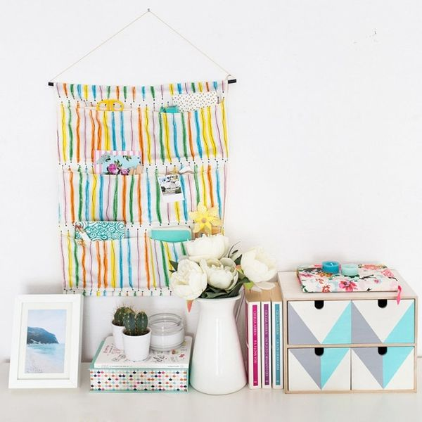 DIY This Hanging Storage Bag and Keep Your Home Office Organized