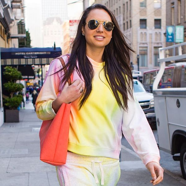 How to Hack Rihanna's $3,300 Watercolor Athleisure Outfit for WAY Less