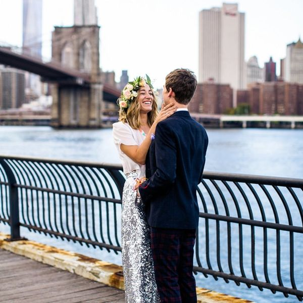 This Sequin-Filled NYC Elopement Is Beyond Dreamy