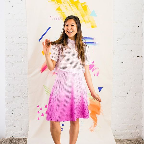 Jump into Spring With This DIY Dip Dye Ombré Dress