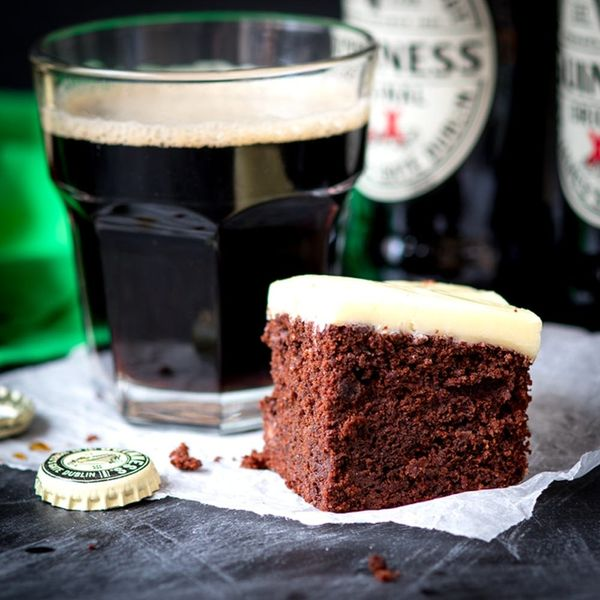 Amazing St. Patrick's Day Guinness Brownies With White Chocolate Ganache