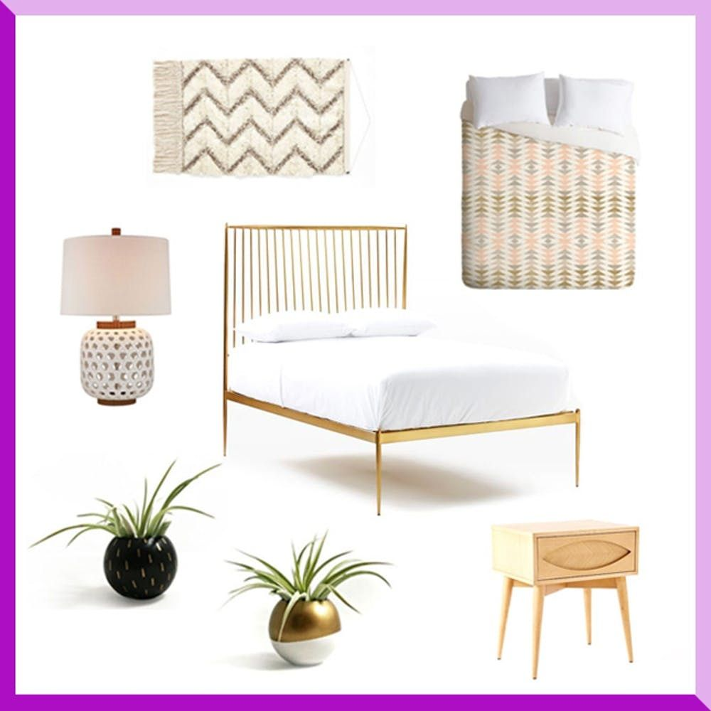 3 Modern Ways To Decorate A Chic Metal Bed Frame Brit Co