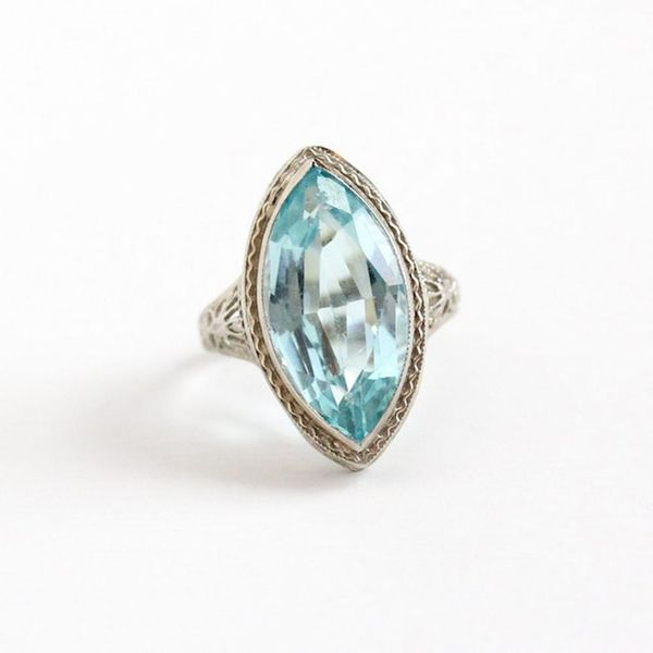 13 Aquamarine Engagement Rings That'll Sweep You Off Your Feet