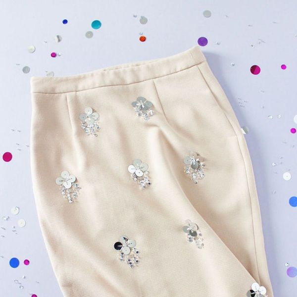 Make This $45 Embellished Sequin Skirt for $10