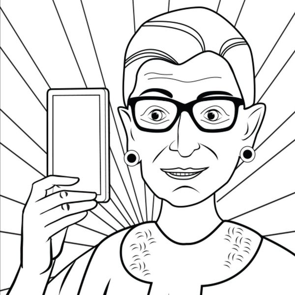 This Ruth Bader Ginsburg Is the Only Coloring Book You Need