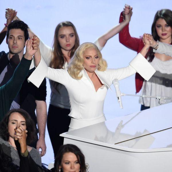 Brie Larson Hugged Every Assault Survivor After Lady Gaga's Powerful Oscars Performance