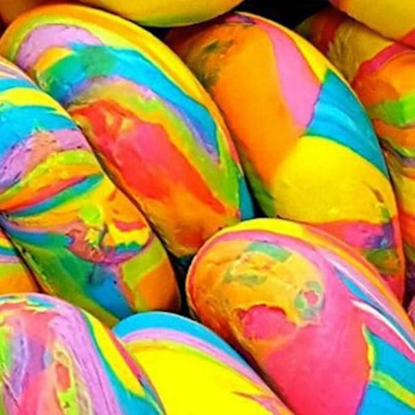 Rainbow Bagels Have a Colorful History