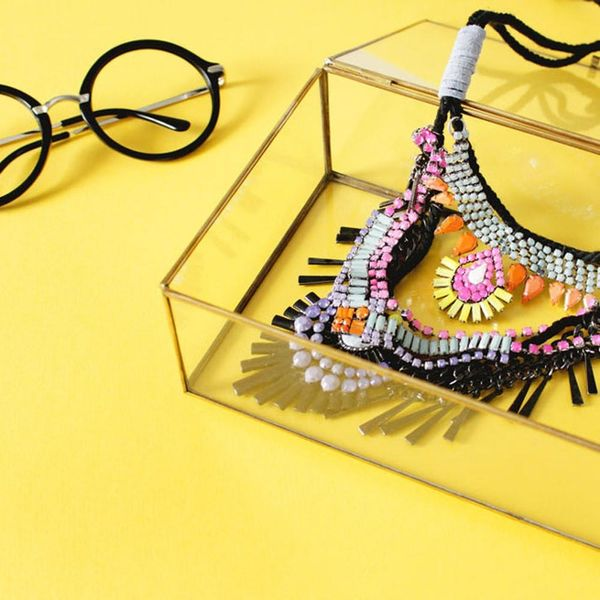 DIY This Iris Apfel-Inspired Statement Necklace