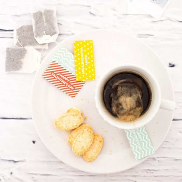 Add a Romantic Touch to Your Breakfast With These Valentine's Day Tea Tags