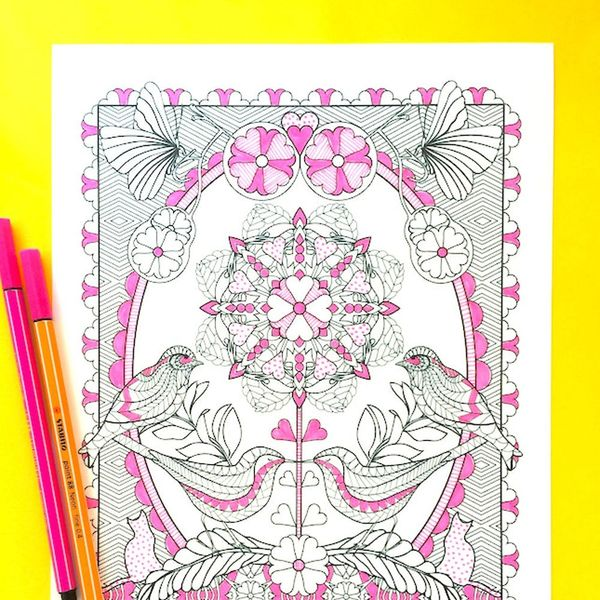 Take an Exclusive First Look at Adobe's First Adult Coloring Book