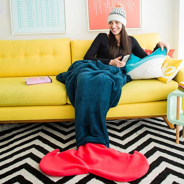 Turn Your Legs into a Tail With This Mermaid Blanket