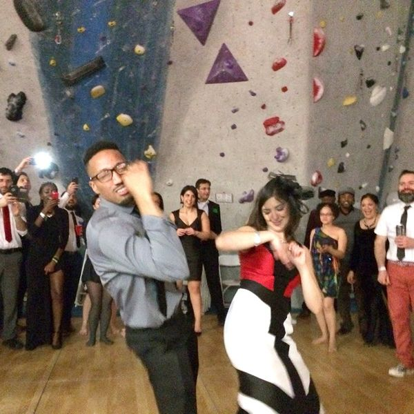 Why This Creative Couple Got Married in a Rock Climbing Gym