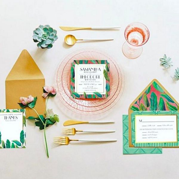Justina Blakeney's New Wedding Invitation Collaboration Is Crazy Gorgeous