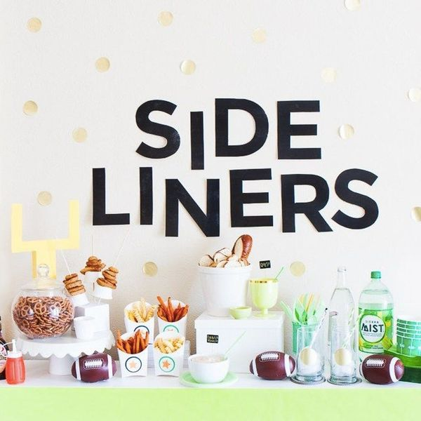 13 Modern + Colorful DIY Super Bowl Party Decorations