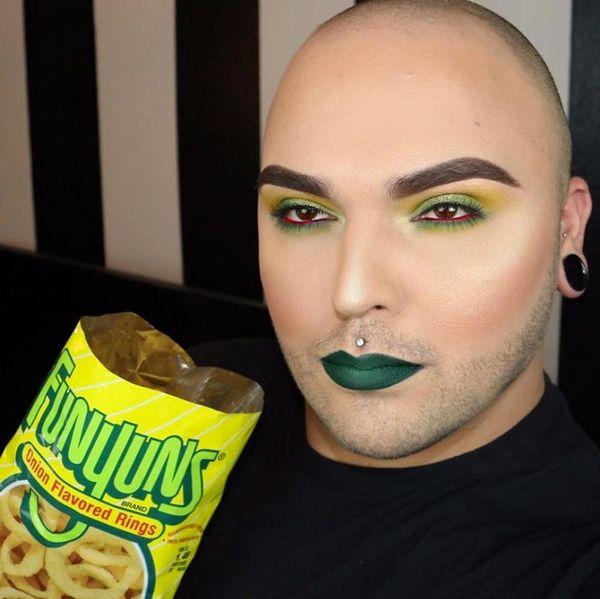 Makeup Artist Tim O Instagrams Makeup Looks to Match His Favorite Junk Food