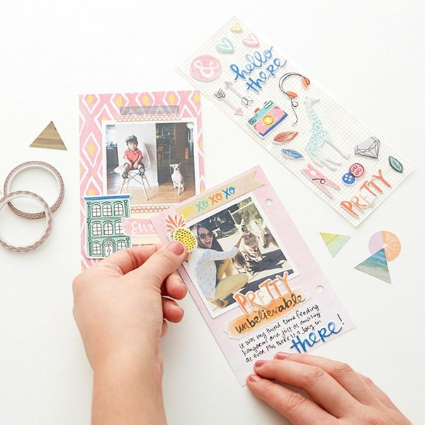 How to Make a Modern Mini Scrapbook for Your Coffee Table