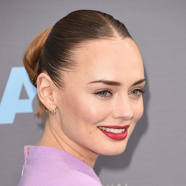 Laura Haddock's Epic Critics' Choice Awards Updo Used This Unexpected Hair Tool