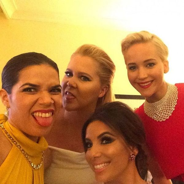 America Ferrera Had the Best Behind-the-Scenes Selfie Game at the Golden Globes
