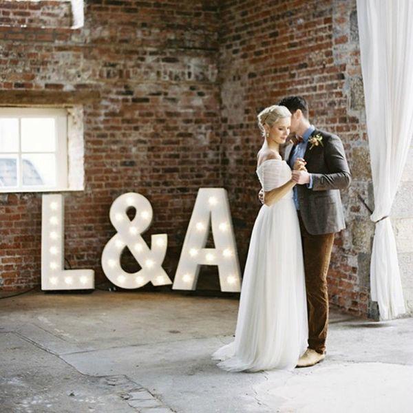 22 Modern Ways to Display Your Wedding Monogram