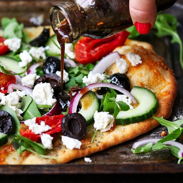 Lighten up Your Favorite Junk Food With This Greek Salad Pizza Recipe