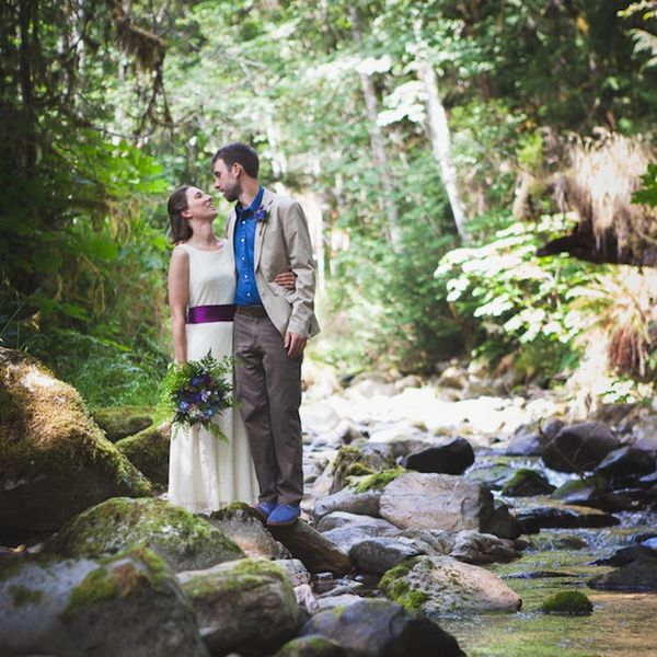 This Couple Brought Sweet PNW Vibes to Their Outdoorsy DIY Wedding