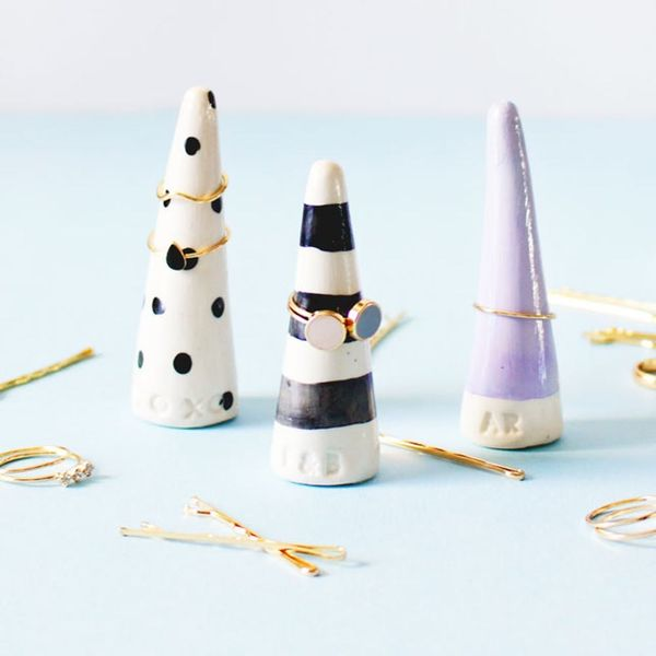 Organize Your Rings With DIY Monogrammed Ring Cones