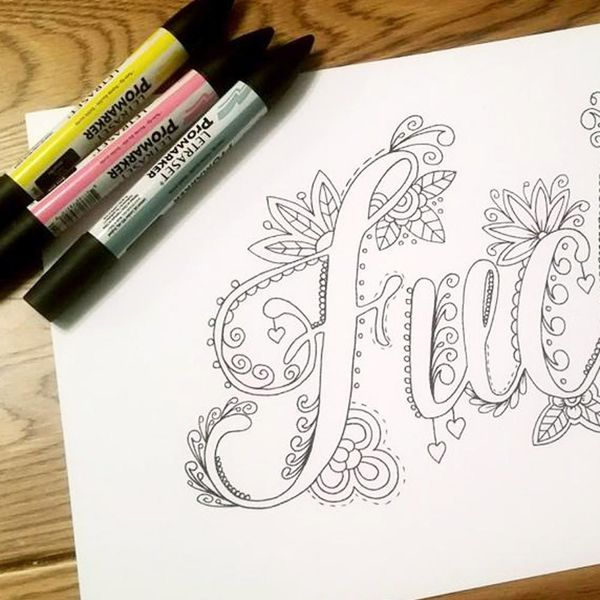 This New Coloring Book Is Made Entirely of Swear Words