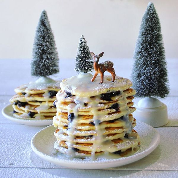 Make the Fluffiest Blueberry Pancakes Ever for Your Christmas Breakfast