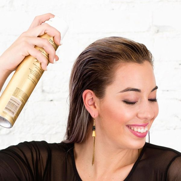 This Genius Hairspray Hack Could Save Your Next Updo