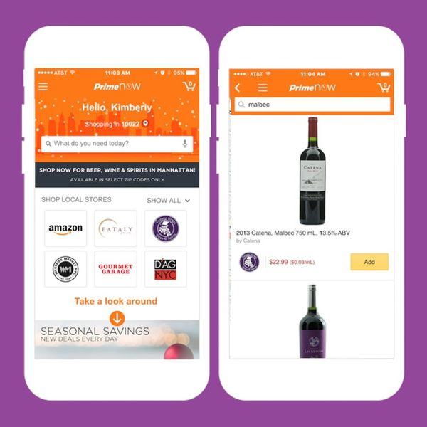 Amazon's 1-Hour Alcohol Delivery Service Is a Dream for Lazy Party Planners