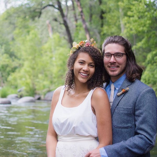 This Arizona Couple's Riverside Wedding Style Is Totally on Point