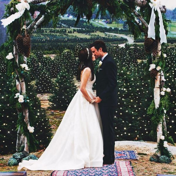 This Blogger's Christmas Tree Farm Wedding Will Make You Want an Xmas Ceremony