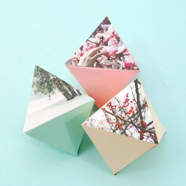 How to Make Geo Ornaments With Your Favorite Photos